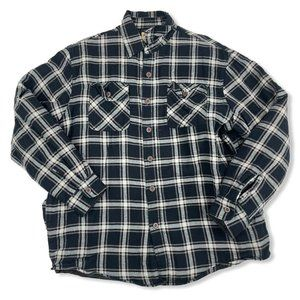 Wrangler Authentics Black Plaid Thick Quilted